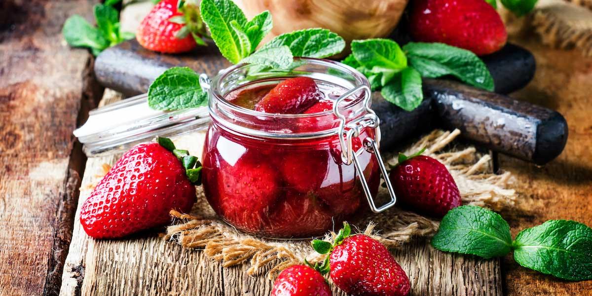 Erdbeeren Einkochen im Glas