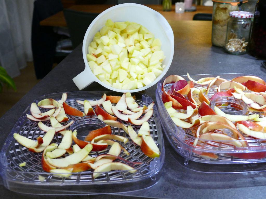 Apfel Dörren Vorbereitung